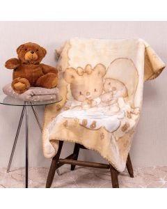 Cobertor Bebê 80x110 Raschel Estamp Yoyo Baby - Sleep Beige