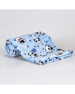 Cobertor Bebê Microfibra 90x100cm Yoyo Baby - Panda Azul