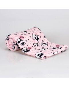 Cobertor Bebê Microfibra 90x100cm Yoyo Baby - Panda Rosa