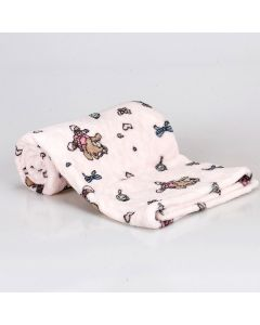 Cobertor Bebê Microfibra 90x100cm Yoyo Baby - Ursa Ballet Rosa