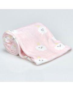 Cobertor Bebê Microfibra 90x100cm Yoyo Baby - Nuvens Rosa
