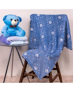 Cobertor Bebê Microfibra 90x100cm Yoyo Baby - Coroa Azul