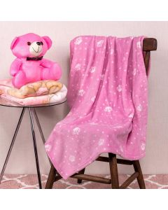 Cobertor Bebê Microfibra 90x100cm Yoyo Baby - Coroa Rosa