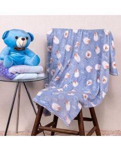 Cobertor Bebê Microfibra 90x100cm Yoyo Baby - Ovelha Azul