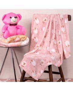 Cobertor Bebê Microfibra 90x100cm Yoyo Baby - Ovelha Rosa