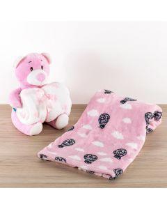 Cobertor Bebê Microfibra 90x100cm Yoyo Baby - Balao Magico Rosa