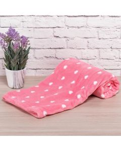 Cobertor Bebê Microfibra 90x100cm Yoyo Baby - Coração Rosa