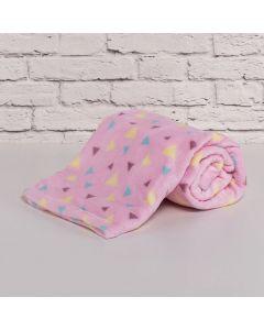 Cobertor Bebê Microfibra 90x100cm Yoyo Baby - Triangulos Menina