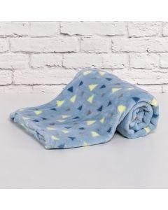 Cobertor Bebê Microfibra 90x100cm Yoyo Baby - Triangulos Menino