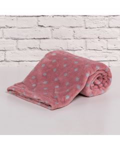 Cobertor Bebê Microfibra 90x100cm Yoyo Baby - Poa Rosa Blush