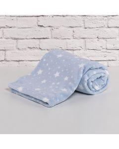 Cobertor Bebê Microfibra 90x100cm Yoyo Baby - Estrela Azul