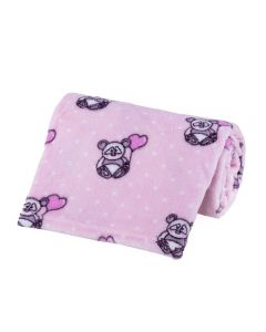 Cobertor Bebê Microfibra 90X100cm Yoyo Baby - Panda Poa Rosa