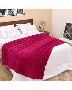 Cobertor Casal 1,80m x 2,20m Dobby - Fucsia