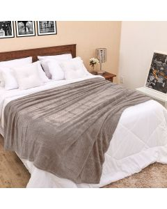 Cobertor Casal 1,80m x 2,20m Dobby - Taupe