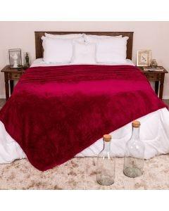 Cobertor Casal 1,80m x 2,20m Dobby - Malbec