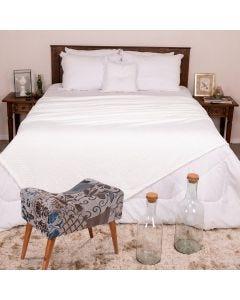 Cobertor Casal 1,80m x 2,20m Dobby - Off White