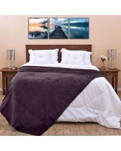 Cobertor Casal 1,80x2,20m Patrícia Foster - Chumbo