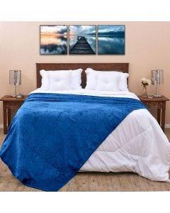 Cobertor Casal 1,80x2,20m Patrícia Foster - Indigo