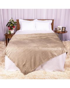 Cobertor Casal 1,80x2,20m Patrícia Foster - Tricot Taupe