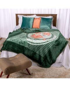 Cobertor Casal 180x220 Dyuri Jolitex - Rosas Urbanas