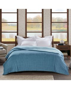 Cobertor Casal 1,80x2,20m Ilford Home Design Corttex - Azul Niagara