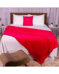 Cobertor Casal 180X220 Microfibra Flannel  - Pink