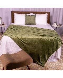 Cobertor Casal 180x220 Microfibra Flannel  - Verde