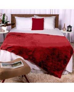 Cobertor Casal 180x220 Microfibra Flannel  - Bordo