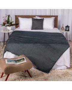 Cobertor Casal 180x220 Microfibra Yaris  - Chumbo