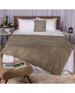 Cobertor Casal 180x220 Microfibra Yaris  - Taupe