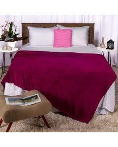 Cobertor Casal 180x220 Microfibra Yaris  - Fucsia