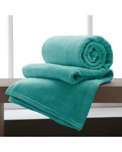 Cobertor Casal 180x220 Microfibra Yaris  - Agua Marinha