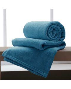 Cobertor Casal 180x220 Microfibra Yaris  - New Blue