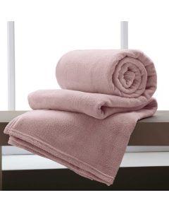 Cobertor Casal 180x220 Microfibra Yaris  - Rose