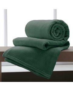 Cobertor Casal 180x220 Microfibra Yaris - Musgo