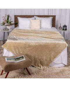 Cobertor Casal 180X220 Raschel Patricia Foster - Taupe