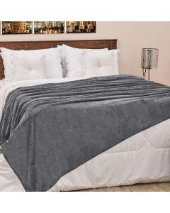 Cobertor Casal 180x220cm Microfibra Camesa - Chumbo