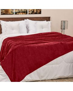 Cobertor Casal 180x220cm Microfibra Camesa - Vinho