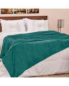 Cobertor Casal 180x220cm Microfibra Camesa - Verde Jade