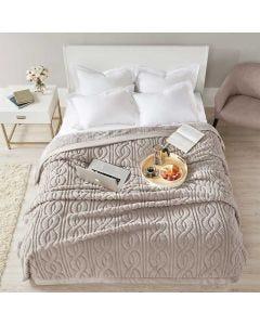 Cobertor Casal 2,20m x 1,80m Cervinia Home Design Corttex - Ornare Taupe Claro