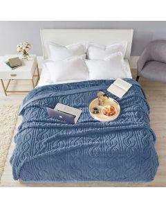 Cobertor Casal 2,20m x 1,80m Cervinia Home Design Corttex - Ornare Indigo