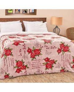 Cobertor Casal Aveludado Importado Yaris - Paris Rose
