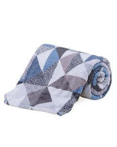 Cobertor Casal Microfibra Estampado Yaris - Mosaico Textura Cinza