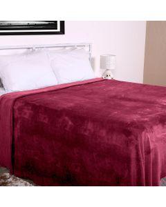 Cobertor Casal Microfibra Home Design Corttex - Cereja