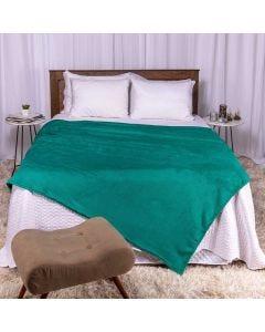 Cobertor Casal Microfibra Home Design Corttex - Esmeralda