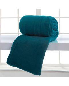 Cobertor Casal Microfibra Home Design Corttex - Azul Adriatico 00018