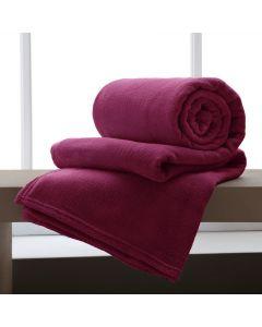 Cobertor Casal Microfibra Home Design Corttex - Malbec