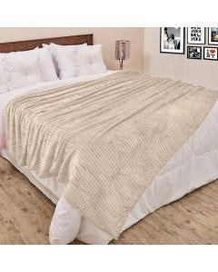 Cobertor de Casal 1,80x2,20m Canelado - Cru