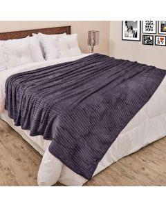 Cobertor de Casal 1,80x2,20m Canelado - Chumbo