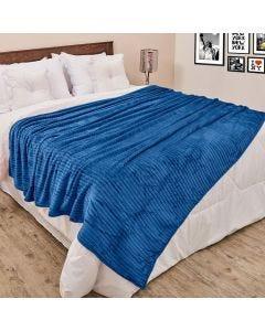 Cobertor de Casal 1,80x2,20m Canelado - Indigo